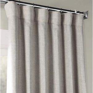 Faux Linen Room Darkening Curtain